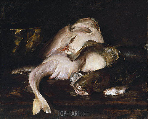 Still Life, Fish, 1912 | William Merritt Chase| Painting Reproduction