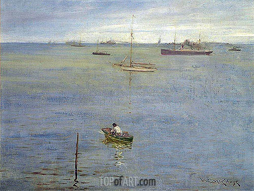 William Merritt Chase | Harbor Scene, c.1895
