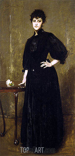 William Merritt Chase | Lady in Black, 1888