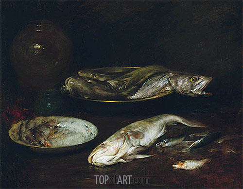 Still Life - Fish, c.1900 | William Merritt Chase | Gemälde Reproduktion
