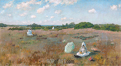 Gathering Autumn Flowers, c.1894/95 | William Merritt Chase| Painting Reproduction