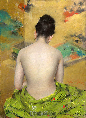 Study of Flesh Color and Gold, 1888 | William Merritt Chase| Painting Reproduction