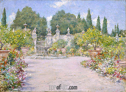 William Merritt Chase | An Italian Garden, c.1909