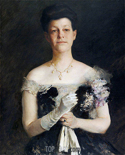 Portrait of Lavinia Borden Cook, c.1905 | William Merritt Chase| Gemälde Reproduktion