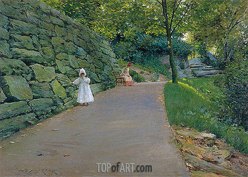 In the Park (A By-path), c.1889 | William Merritt Chase| Gemälde Reproduktion