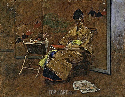 The Kimono, c.1895 | William Merritt Chase| Painting Reproduction