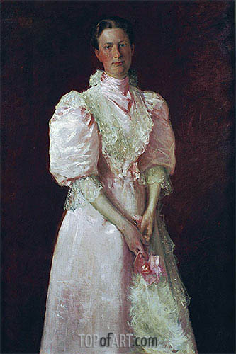 A Study in Pink (Mrs. Robert McDougal), 1895 | William Merritt Chase | Gemälde Reproduktion