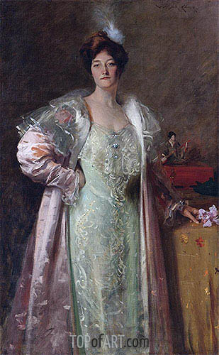 Portrait of Miss J., c.1902 | William Merritt Chase | Gemälde Reproduktion