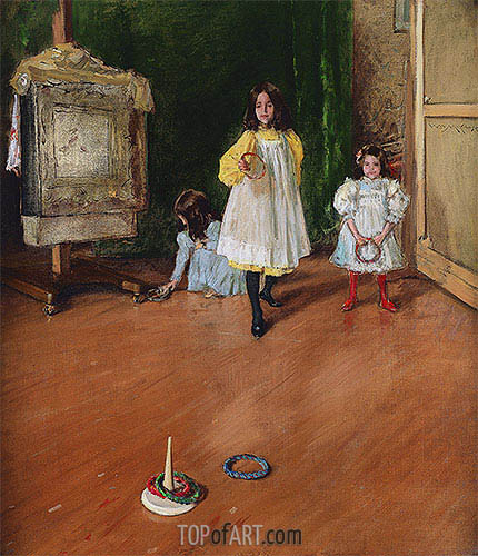 Ring Toss, 1896 | William Merritt Chase| Painting Reproduction