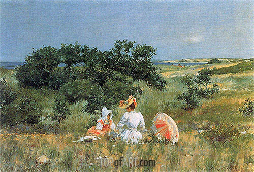 The Tale, 1892 | William Merritt Chase| Painting Reproduction