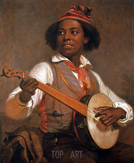 William Sidney Mount | The Banjo Player, 1856