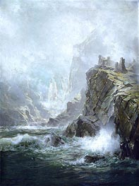 The Ruins of Fast Castle, Berwickshire, Scotland | William Trost Richards | outdated