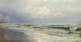 New Jersey Seascape - Atlantic City, c.1880/90 by William Trost Richards | Painting Reproduction