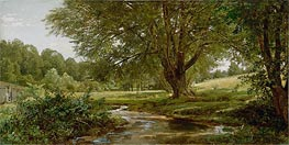 Glade at Oldmixon, Chester County, Pennsylvania, c.1881/90 by William Trost Richards | Painting Reproduction