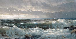 Surf on Rocks | William Trost Richards | Painting Reproduction