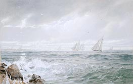 Yachts Off Newport | William Trost Richards | veraltet