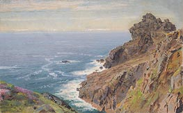 Coast Near Boscastle, Cornwall, c.1878/79 by William Trost Richards | Painting Reproduction