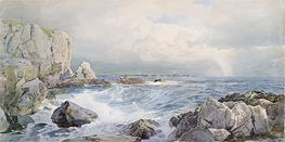 Rocks and Cliffs near the Sea, c.1885/90 by William Trost Richards | Painting Reproduction