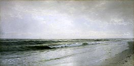 Quiet Seascape, 1883 by William Trost Richards | Painting Reproduction