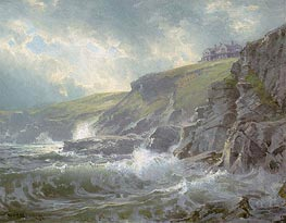 View of the Artist's Home, Graycliff, Newport, Rhode Island, 1894 by William Trost Richards | Painting Reproduction