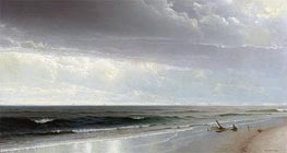 Newport Beach, 1873 by William Trost Richards | Painting Reproduction