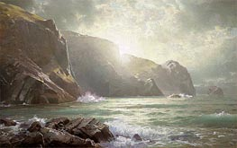 Cornish Coastline, undated by William Trost Richards | Painting Reproduction
