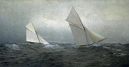20 Miles to Windward (1885 America's Cup Race) | William Trost Richards | veraltet