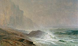 Coast of Cornwall, 1869 by William Trost Richards | Painting Reproduction