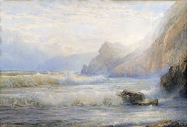Crashing Waves, 1899 by William Trost Richards | Painting Reproduction