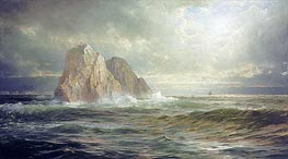 The Skelligs, Coast of Ireland, 1893 by William Trost Richards | Painting Reproduction