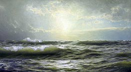 On the Coast of New England, 1894 by William Trost Richards | Painting Reproduction