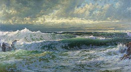 After a Gale, 1903 by William Trost Richards | Painting Reproduction