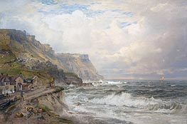 Portland Bill, England, c.1885/90 by William Trost Richards | Painting Reproduction