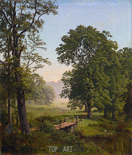 William Trost Richards | Landcape near Frankfort, Pennsylvania, 1861