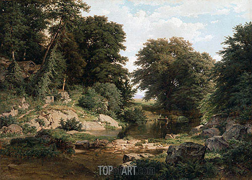Woodland Brook, 1861 | William Trost Richards| Painting Reproduction