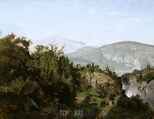 In the Adirondack Mountains, 1857 | William Trost Richards| Painting Reproduction