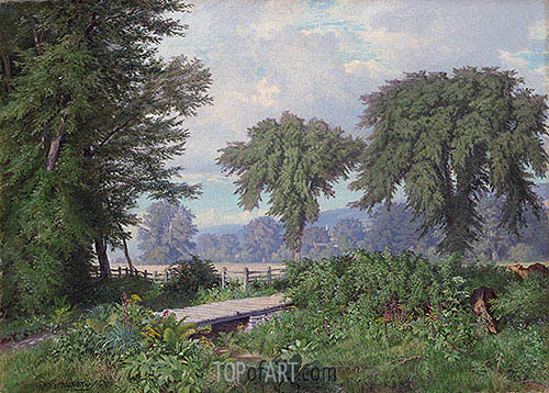 Landscape, 1860 | William Trost Richards | Painting Reproduction