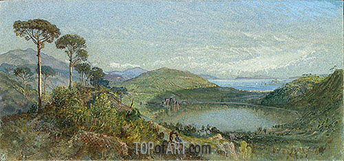 Lago Avernus, c.1867/70 | William Trost Richards| Painting Reproduction
