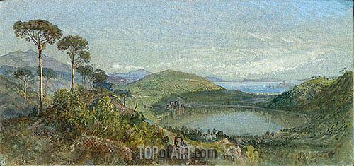 Lago Avernus, c.1867/70 | William Trost Richards | Gemälde Reproduktion