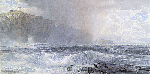 Sea and Cliffs, 1892 | William Trost Richards | Painting Reproduction