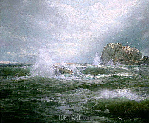 Clearing after the Storm, 1889 | William Trost Richards| Painting Reproduction