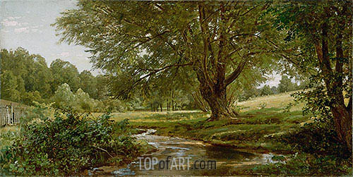 Glade at Oldmixon, Chester County, Pennsylvania, c.1881/90 | William Trost Richards | Painting Reproduction