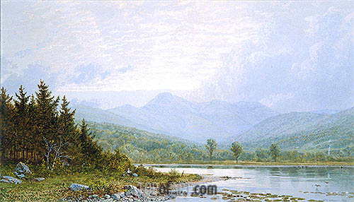William Trost Richards | Sunset on Mount Chocorua, New Hampshire, 1872