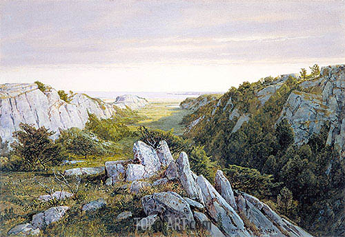 William Trost Richards | From Paradise to Purgatory, Newport, 1878