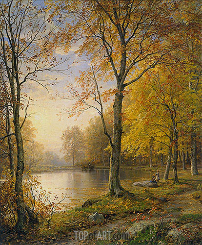 Indian Summer, 1875 | William Trost Richards | Painting Reproduction