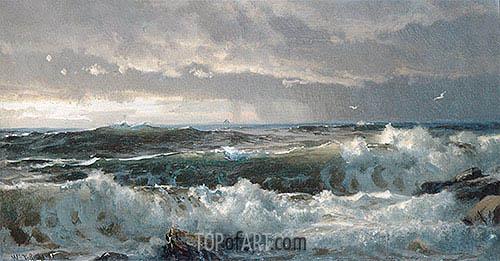 Surf on Rocks, c.1890/99 | William Trost Richards | Gemälde Reproduktion
