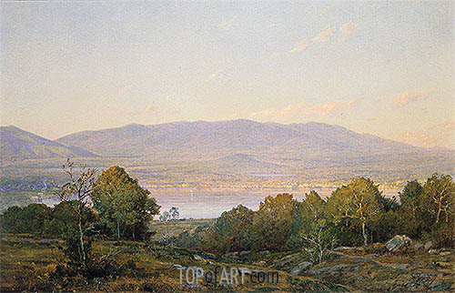 Sundown at Centre Harbor, New Hampshire, 1874 | William Trost Richards| Painting Reproduction