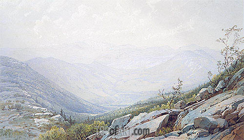 The Mount Washington Range, from Mount Kearsarge, 1872 | William Trost Richards| Painting Reproduction