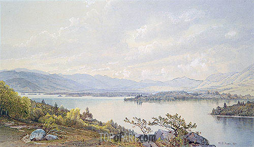 Lake Squam and the Sandwich Mountains, 1872 | William Trost Richards| Painting Reproduction