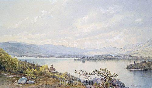 Lake Squam and the Sandwich Mountains, 1872 | William Trost Richards | Gemälde Reproduktion
